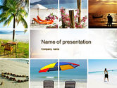 Health and Recreation: Beach Fun PowerPoint Template #09954