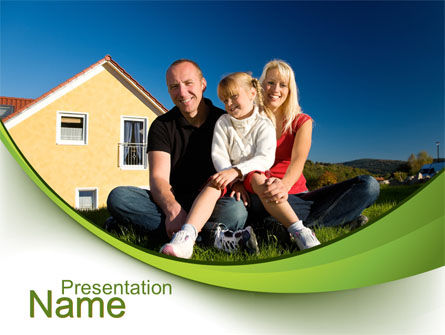 Townhouse of Happy Family PowerPoint Template