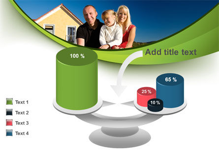 Townhouse of Happy Family PowerPoint Template Slide 10