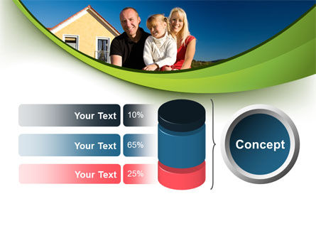 Townhouse of Happy Family PowerPoint Template Slide 11