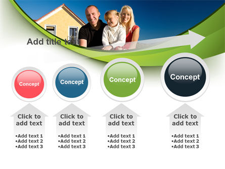 Townhouse of Happy Family PowerPoint Template Slide 13