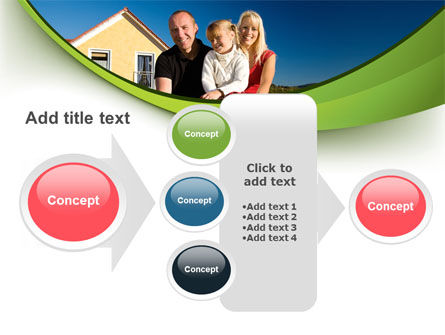Townhouse of Happy Family PowerPoint Template Slide 17