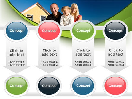 Townhouse of Happy Family PowerPoint Template Slide 18