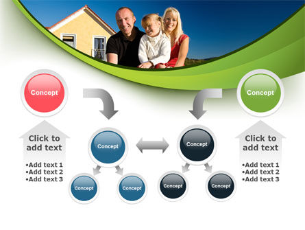 Townhouse of Happy Family PowerPoint Template Slide 19