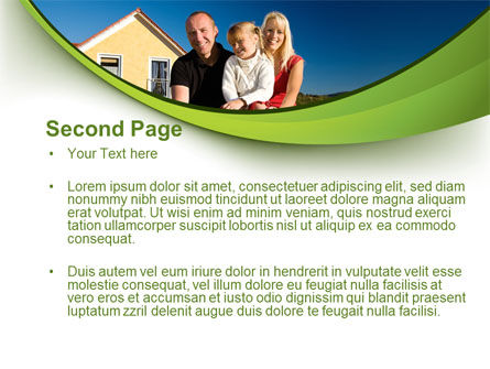Townhouse of Happy Family PowerPoint Template, Slide 2, 09957, Consulting — PoweredTemplate.com