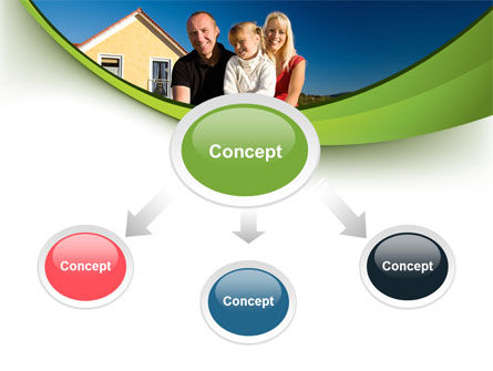 Townhouse of Happy Family PowerPoint Template Slide 4