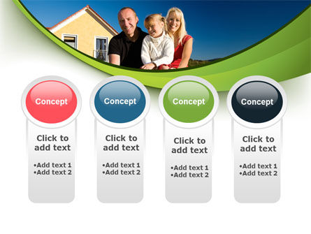 Townhouse of Happy Family PowerPoint Template Slide 5