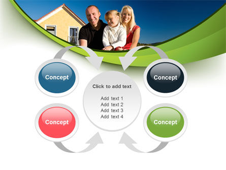Townhouse of Happy Family PowerPoint Template Slide 6