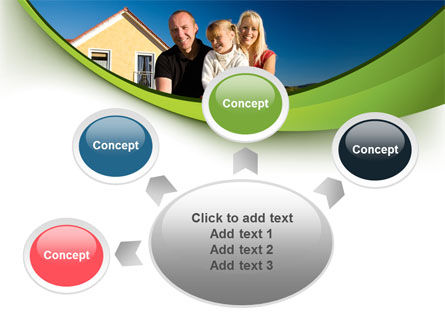 Townhouse of Happy Family PowerPoint Template Slide 7