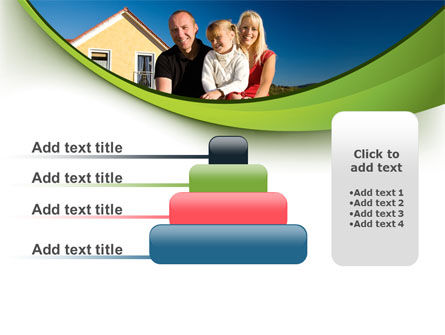 Townhouse of Happy Family PowerPoint Template Slide 8
