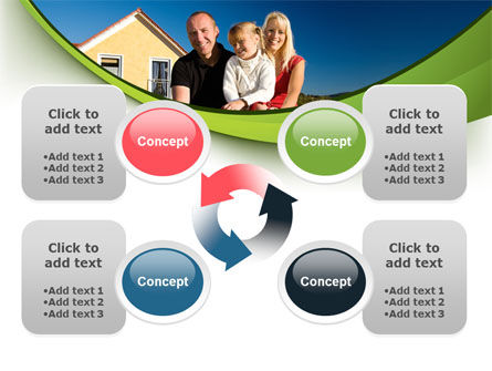 Townhouse of Happy Family PowerPoint Template Slide 9