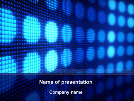 White Circles On The Blue Corrugated PowerPoint Template