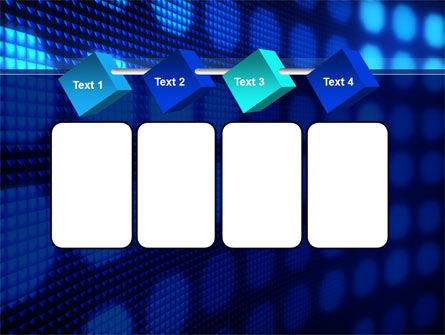White Circles On The Blue Corrugated PowerPoint Template Slide 18