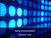 Abstract/Textures: White Circles On The Blue Corrugated PowerPoint Template #09959