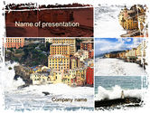 Construction: Italian Coastal Town PowerPoint Template #09961