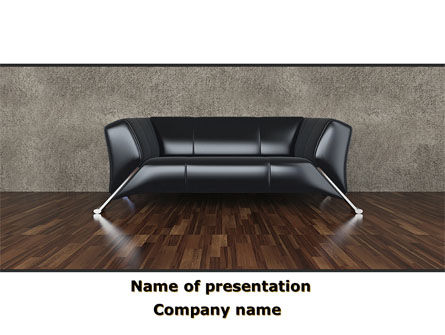 Sofa PowerPoint Template, 09963, Business Concepts — PoweredTemplate.com