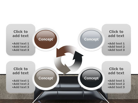 Sofa PowerPoint Template Slide 9