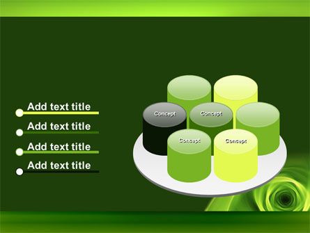 Green Whirlpool PowerPoint Template Slide 12
