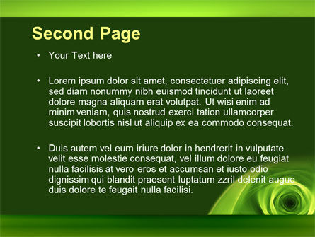 Green Whirlpool PowerPoint Template Slide 2
