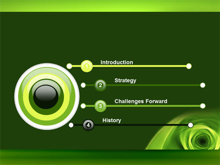 Green Whirlpool PowerPoint Template Slide 3