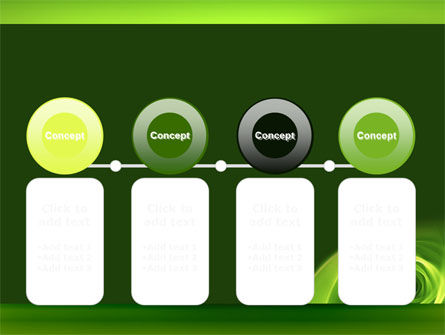 Green Whirlpool PowerPoint Template Slide 5