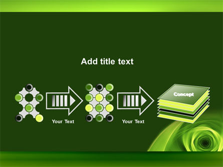 Green Whirlpool PowerPoint Template Slide 9