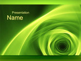 Abstract/Textures: Green Whirlpool PowerPoint Template #09964