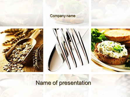 Food & Beverage: Durum Wheat Products PowerPoint Template #09966