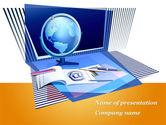 Education & Training: Distant Education Via Internet PowerPoint Template #09967