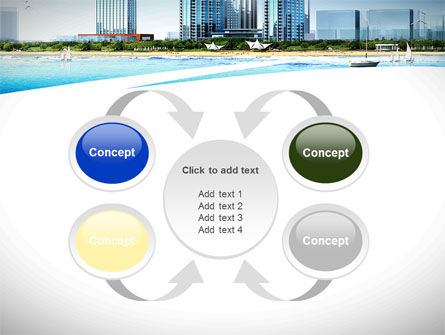 Modern Resort On A Seashore PowerPoint Template Slide 6