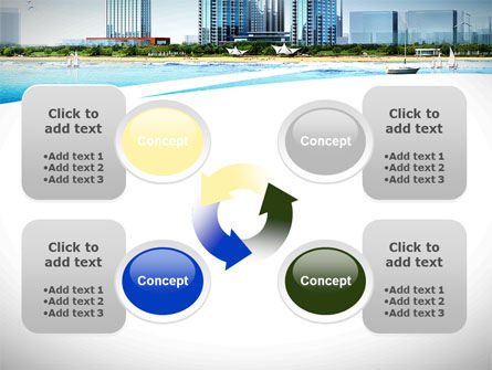 Modern Resort On A Seashore PowerPoint Template Slide 9