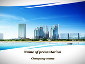 Construction: Modern Resort On A Seashore PowerPoint Template #09968