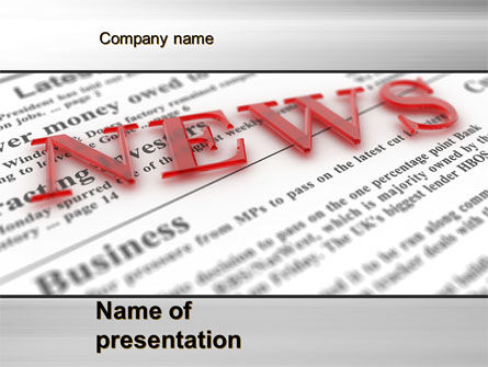 Business Concepts: Business News PowerPoint Template #09970