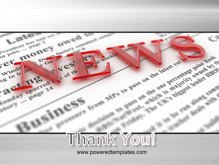 Business News PowerPoint Template Slide 20