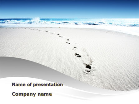Holiday/Special Occasion: Footprints On The Dune PowerPoint Template #09972