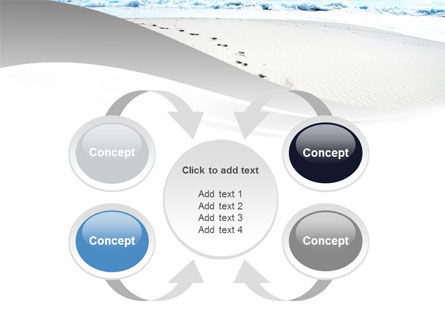 Footprints On The Dune PowerPoint Template Slide 6