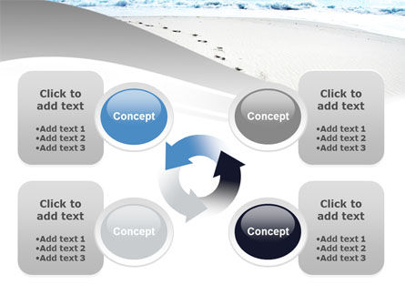 Footprints On The Dune PowerPoint Template Slide 9