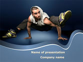 Sports: Street Dancer PowerPoint Template #09974