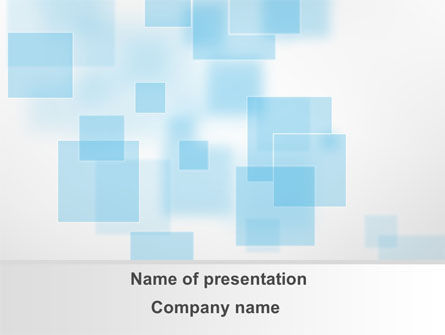Vanishing Squares PowerPoint Template