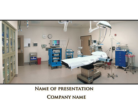 Medical Equipment For Operation Room PowerPoint Template, 09979, Medical — PoweredTemplate.com