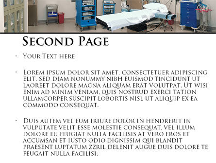 Medical Equipment For Operation Room PowerPoint Template, Slide 2, 09979, Medical — PoweredTemplate.com
