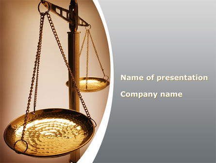 Scale of Justice PowerPoint Template, 09981, Legal — PoweredTemplate.com