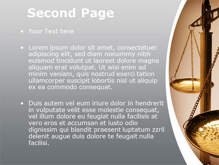 Scale of Justice PowerPoint Template, Slide 2, 09981, Legal — PoweredTemplate.com