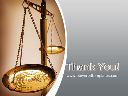 Scale of Justice PowerPoint Template Slide 20