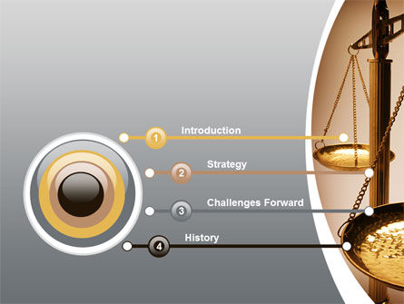 Scale of Justice PowerPoint Template, Slide 3, 09981, Legal — PoweredTemplate.com