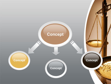 Scale of Justice PowerPoint Template, Slide 4, 09981, Legal — PoweredTemplate.com