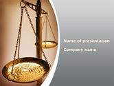 Legal: Scale of Justice PowerPoint Template #09981