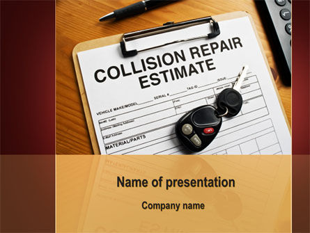 Collision Repair Estimate PowerPoint Template