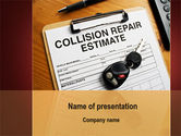 Cars and Transportation: Collision Repair Estimate PowerPoint Template #09983