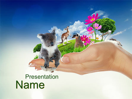 Wild Life of Australia PowerPoint Template, 09984, Flags/International — PoweredTemplate.com